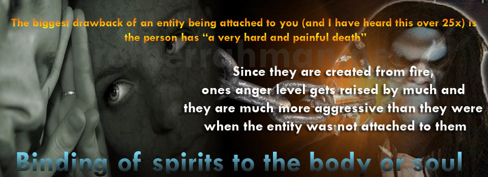 Concept of binding entity to one's body and the side effects of such