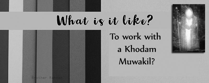 What is it like to work with a Khodam Muwakil? - Brother